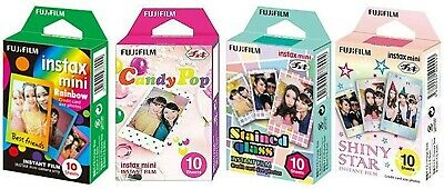 Fujifilm InstaX Mini Instant Film Rainbow & Staind Glass & Candy Pop & Shiny Sta