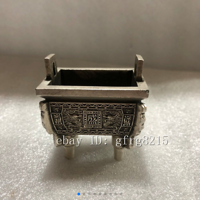"2.2"" Chinese antique pure copper handmade Tibetan silver Small Xiangding"