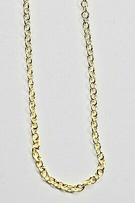 REAL 14kt Italian Curb Link Chain Solid 1mm High Quality Stamped 14K Yellow Gold