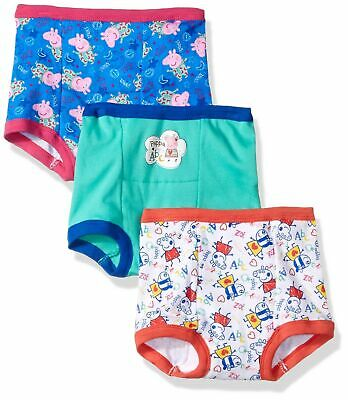 Peppa Pig Toddler Girls' 3pk Training Pant 2T Assorted Peppa