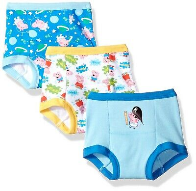 Peppa Pig Boys' Toddler 3pk Potty Training Pant 2T Peppa Boy Multi