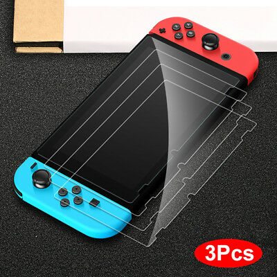 3X For Nintendo Switch Ultra Clear Slim Premium Tempered Glass Screen Protector~