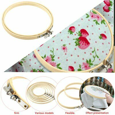 Wooden Cross Stitch Machine Embroidery Hoop Ring Bamboo Sewing 13-30cm MT