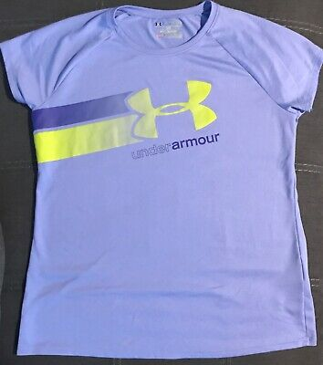 Girl's Youth Under Armour Heat Gear Loose T-Shirt Purple - Size YXL XL