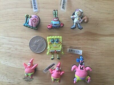 Spongebob Gary Sandy Cheeks Patrick Authentic Jibbitz Shoe Charm Fit Crocs