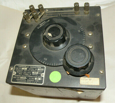 Vintage Variable Inductor General Radio Co. Type 107M  Millihenry Generator
