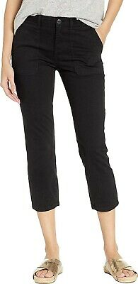 Sanctuary 169228 Womens Peace Casual Mid Rise Crop Chino Pants Black Size 28