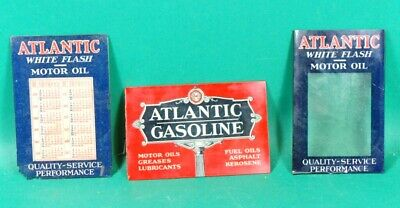 Vintage 1932 Atlantic White Flash Credit Card Celluloid Holders 1930's Gasoline