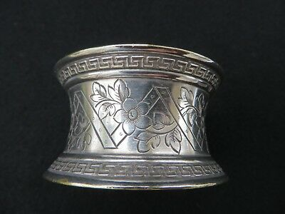 ANTIQUE CHARLES HALPHEN SILVER PLATED NAPKIN RING FRANCE CIRCA 1890s