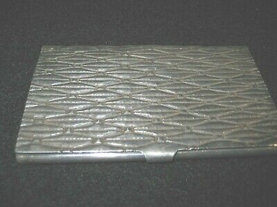 Vintage Sterling Silver Card Case # 206