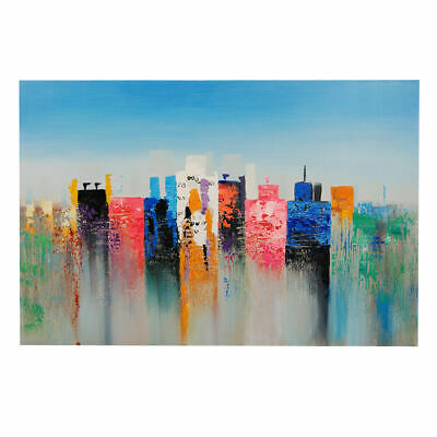 Abstract Hand Painted Art Canvas Oil Painting Modern Home Decor Framed Mirage