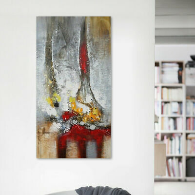 Hand Painted Abstract Modern Oil Painting On Canvas House Decor With Frame