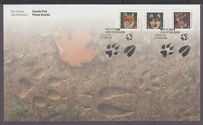 Canada 2000 Fdc 1879-1881 Medium-Value Wildlife Definitives, Red Fox, Grey Wolf