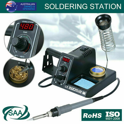 60W Soldering Iron Solder Rework Station Variable Temperature LED Display AU