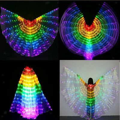 2pcs Belly Dance LED Isis Wing Glow Light Up Wing Egyptian Performance Costumes