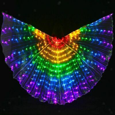 5pcs Belly Dance LED Wings Glow Light Up Wings Egyptian Performance Costumes