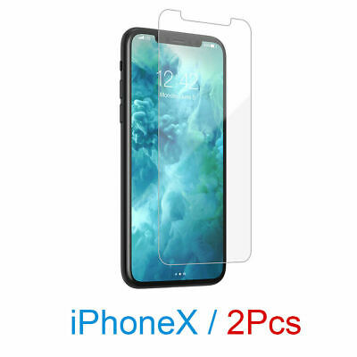 2x NUGLAS Tempered Glass Screen Protector FOR APPLE iPhone X