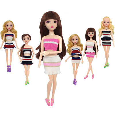 Fashion Sexy Girl Doll Clothes Casual Wear Outfit 3 Tops 3 Skirt For Barbie Doll