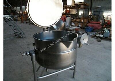 2x Tilting Stainless Steel Jacketed Steam Kettles