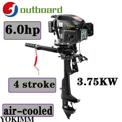 4 Stroke 6 HP Outboard Motor Fishing Boat Engine With Air Cooling 3.75KW HANGKAI