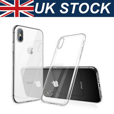 Clear Hard Case for iPhone X XR Xs Max 8 7 6s Plus Bumper Silicone Shockproof UK