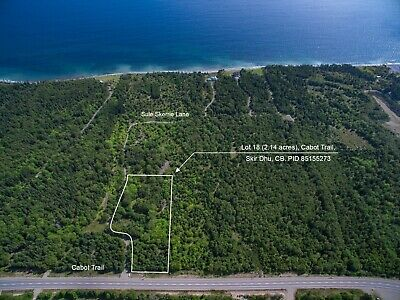 2.1 ACRES for Sale along the Cabot Trail in Northern Cape Breton - Ocean Access