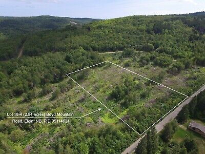 2.8 ACRE COUNTRYSIDE & RECREATION LAND Boyd Mtn. Elgin, New Brunswick - CANADA