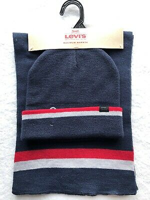 LEVI'S Mens Hat And Scarf Set. Brand New. Perfect Christmas Gift