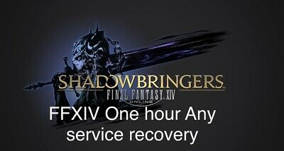 Final Fantasy XIV FFXIV One Hour any farming or leveling Services recovery PS PC
