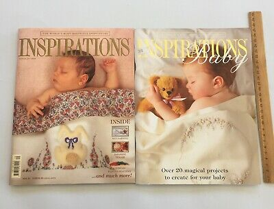Inspirations Baby Embroidery Magazines x 2  Country Bumpkin  Sewing Patterns LOT