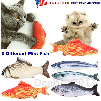 5 Pack Realistic Interactive Fish Cat Kicker Crazy Pet Toy Gift Catnip Toys US