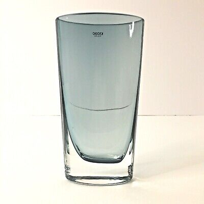 """Krosno Glass Vase Made in Poland 6.4"""" Tall Shade of Blue"""