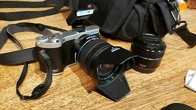 Samsung NX NX300m 20.3 MP Digital Camera -w/ 3D lens,Black (Kit w/ 18-55mm Lens)