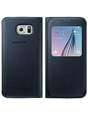 OEM Samsung S-View Flip Cover for Samsung Galaxy S6 - Black Sapphire