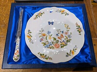 Aynsley Cottage Garden Plate And Knife Set In Original Box - Brand New & Unused