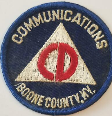 Vintage Civil Defense Communications Patch Boone County KY Cold War Kentucky