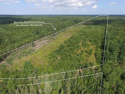 LARGE ACREAGE with Brook and River Front in New Brunswick, Canada