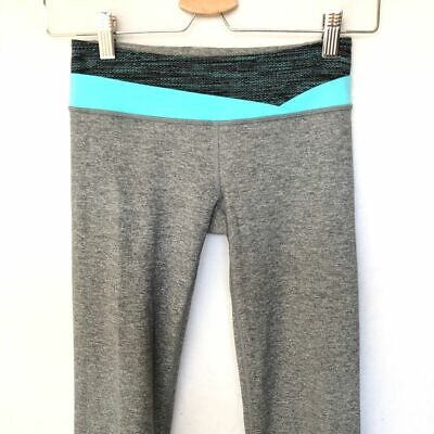Ivivva Lululemon Girls Sz 10 Reversible Leggings Gray
