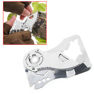 Pocket Credit Card Knife Multitool 9 in 1 Outdoor Survival Camping Hiking Knife