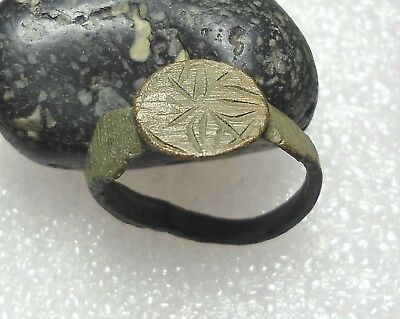 Ancient Roman Bronze Ring Original Authentic Antique Rare R556