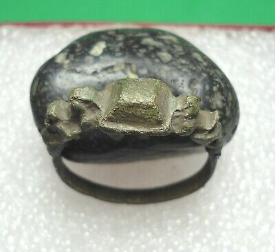 Ancient Roman Bronze Ring Kievan Rus Original Authentic Antique Rare R638