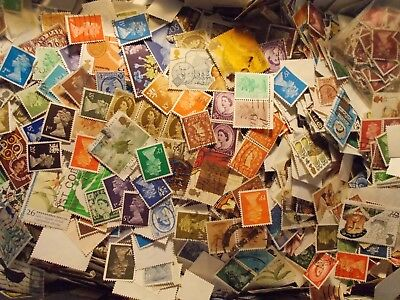 200g~GB Genuine Unsorted Used Charity Kiloware Stamps~off paper UK Seller