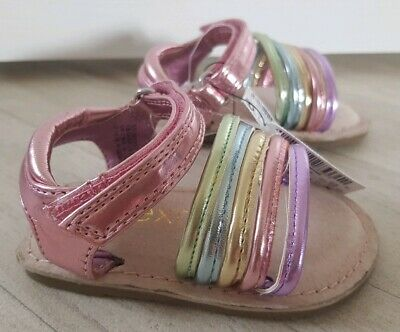 NEXT size 3 metallic COLOURFUL SANDALS holiday GIRLS infant pink purple