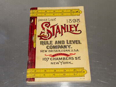 Stanley Rule and Level Co. 1898 Catalog Reprint (#0554)