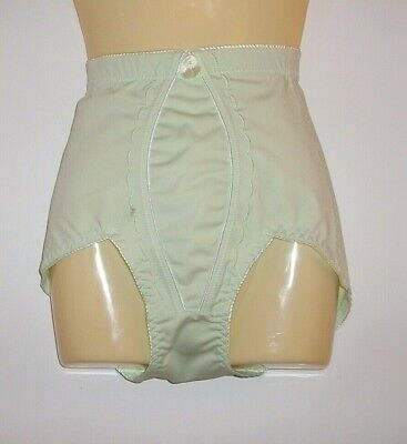 Vtg Pale Green Panty Brief Girdle Shapewear Sissy Bottoms Nylon Excellent MEDIUM