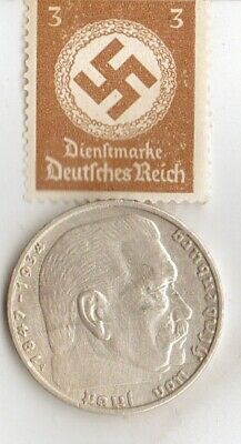 """* WW2-*german SILVER EAGLE coin/STAMP of """"AIRBORNE PARATROOPER"""""""