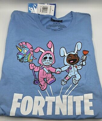 Officially Licensed Fortnite *Squad Up* T Shirt XL,L New With Tags Marine Blue