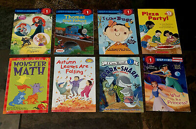 Lot of 8  Level Readers Levels 1 PreK-Kinder DISNEY Thomas Math Great Titles