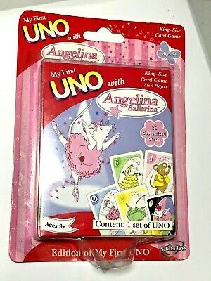 Angelina Ballerina My First Uno King Size Family Card Game 2-4 Players Ages 3+