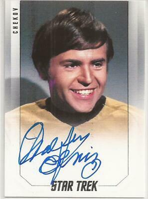 Walter Koenig as Chekov Bridge Crew Autograph Card - Star Trek Inflexions
